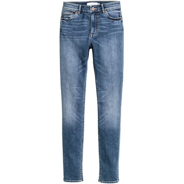 Skinny Regular Jeans 249.- (245 DKK) via Polyvore featuring jeans, super skinny jeans, skinny jeans, denim skinny jeans, skinny leg jeans and zipper denim jeans