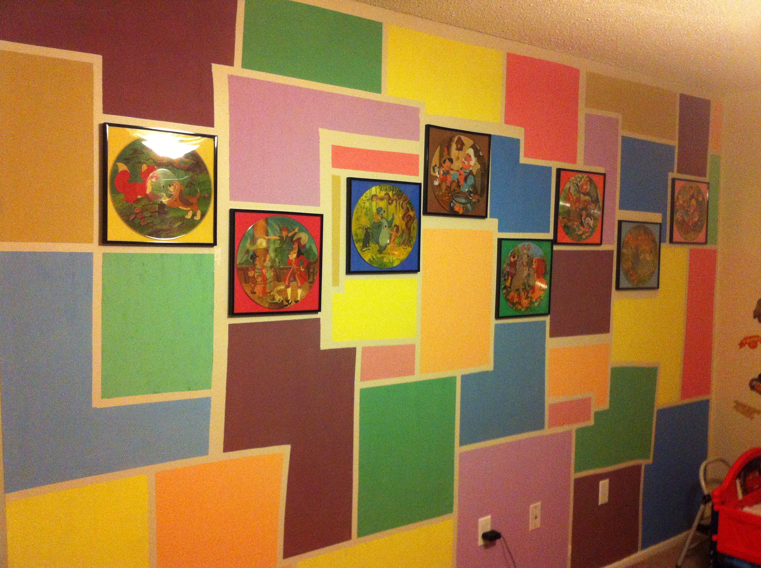 Easy fun design for my kids wall. Use masking tape or ...