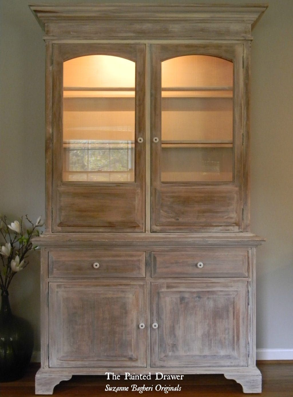 A whitewashed farmhouse cabinet painting tips and ideas