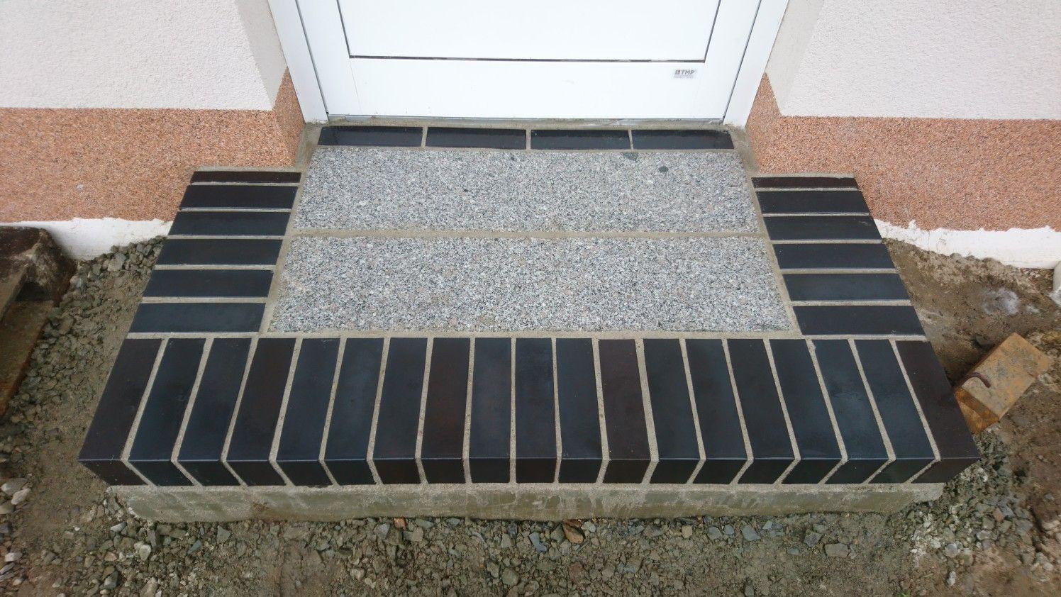 Granit mit Klinker kombiniert | Hauseingang | Pinterest