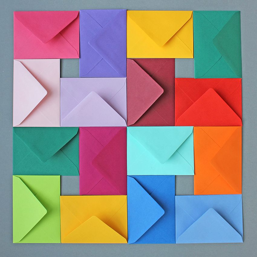 Coloured envelopes!