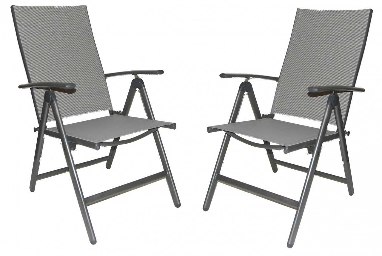 Wasatch Reclining High Back Folding Patio Chairs