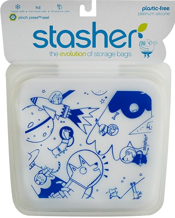 Make snack time a blast with our Space Animals Stasher! One reusable Space Animals Stasher storage bag can replace hundreds of disposable plastic bags.