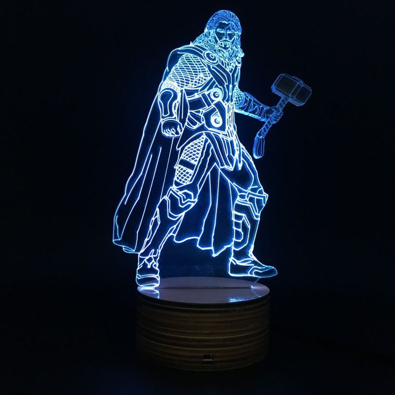 Don T Be Shy Treat Yourself 1piece Novelty Marvel Superhero The Avenger Figure Thor 3d Table Lamp Led Night Light F 3d Table Lamp 3d Led Lamp Led Night Light