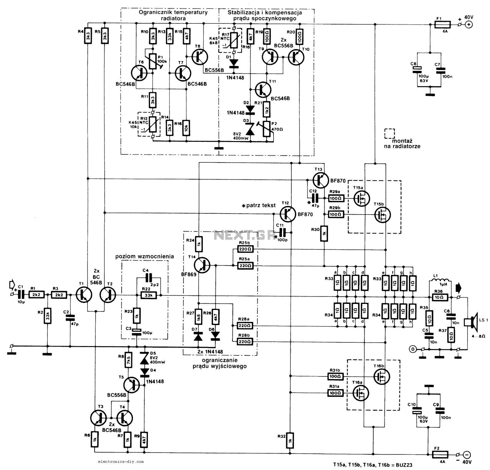 240w mosfet amplifier circuit