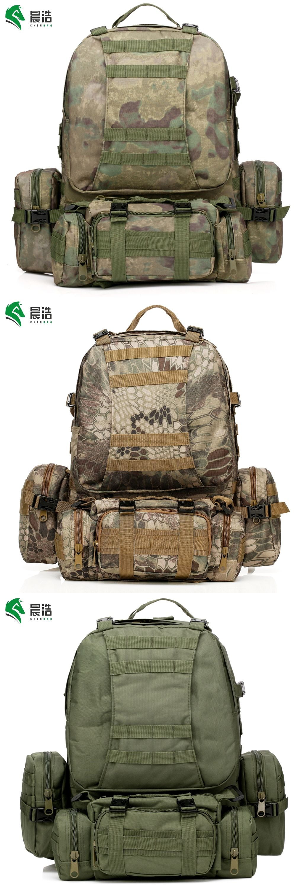 hot sale outdoor waterproof oxford Modular system tactical backpack 55 L military  backpack 3-day tactical assault bag military edf746e90d
