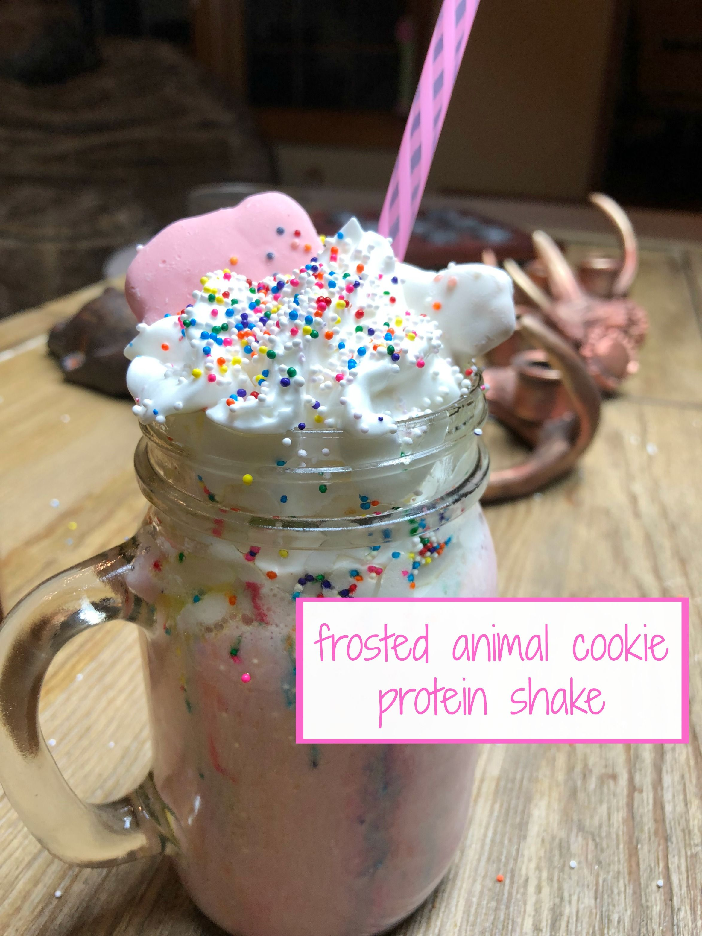 Frosted Animal Cookie Protein Shake Dessert recipes