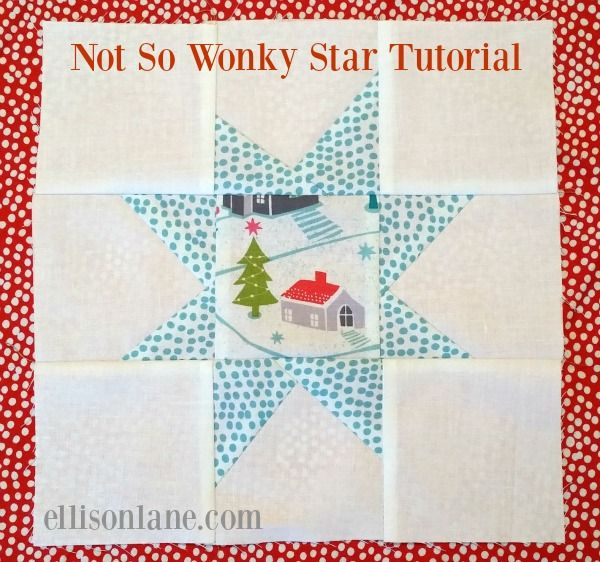 Not So Wonky Star Tutorial Quilts Pinterest Christmas Fabric