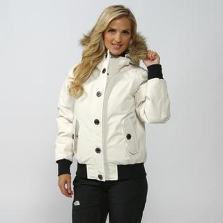 The North Face Women\u0027s Vintage White Brenda\u0027s Bomber Jacket - Overstock�  Shopping - Big Discounts