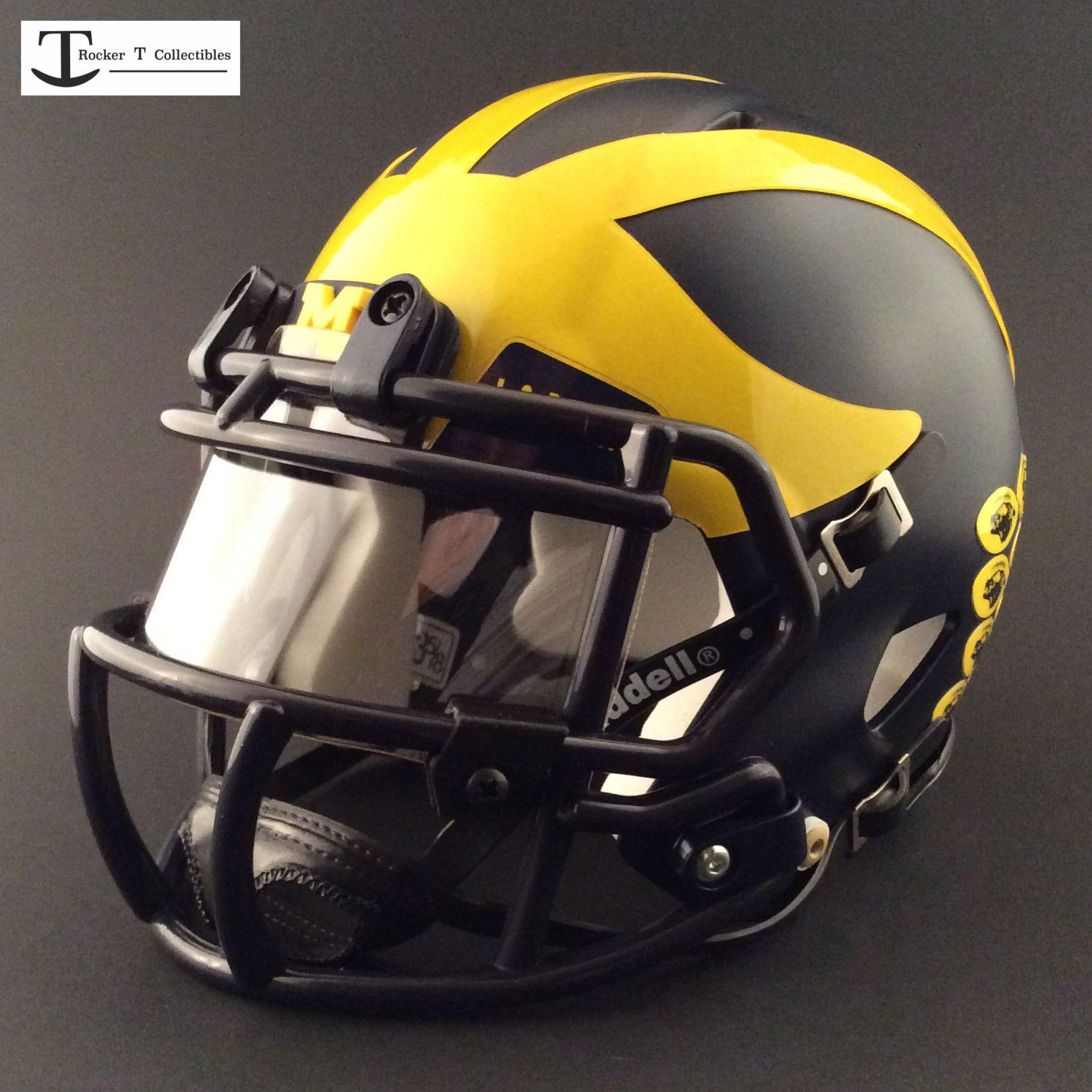 Custom michigan mini helmet helmet football helmets
