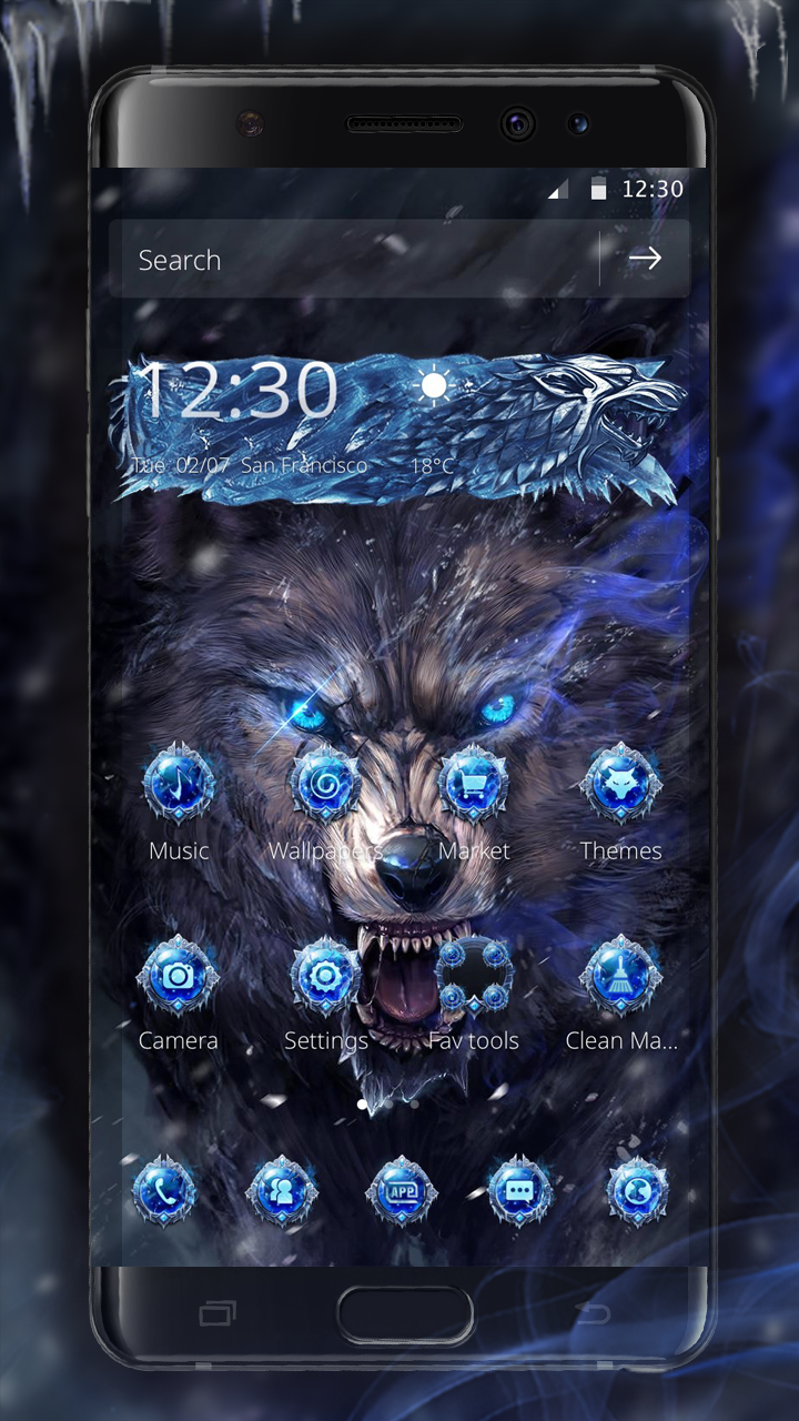 cool wolf theme!   Android Themes From Ahatheme   Android