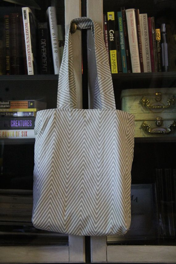 Reversible Grocery Tote Bag on Etsy, $35.00