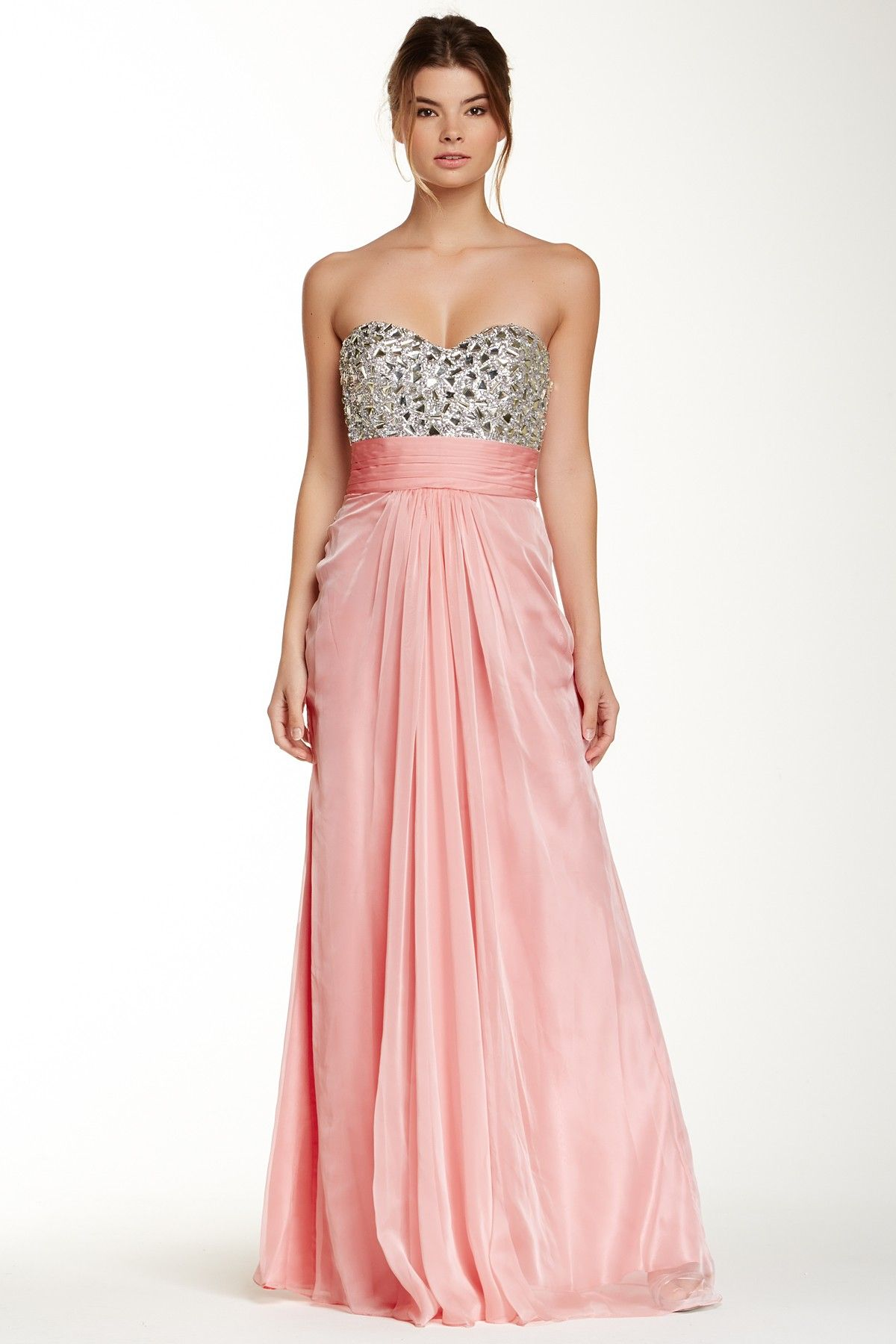 Strapless Embellished Open Back Gown by La Femme on @HauteLook
