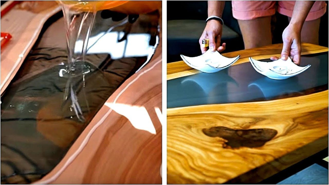 4 EPIC WOOD PROJECTS CREATED WITH EPOXY RESIN Epoxy