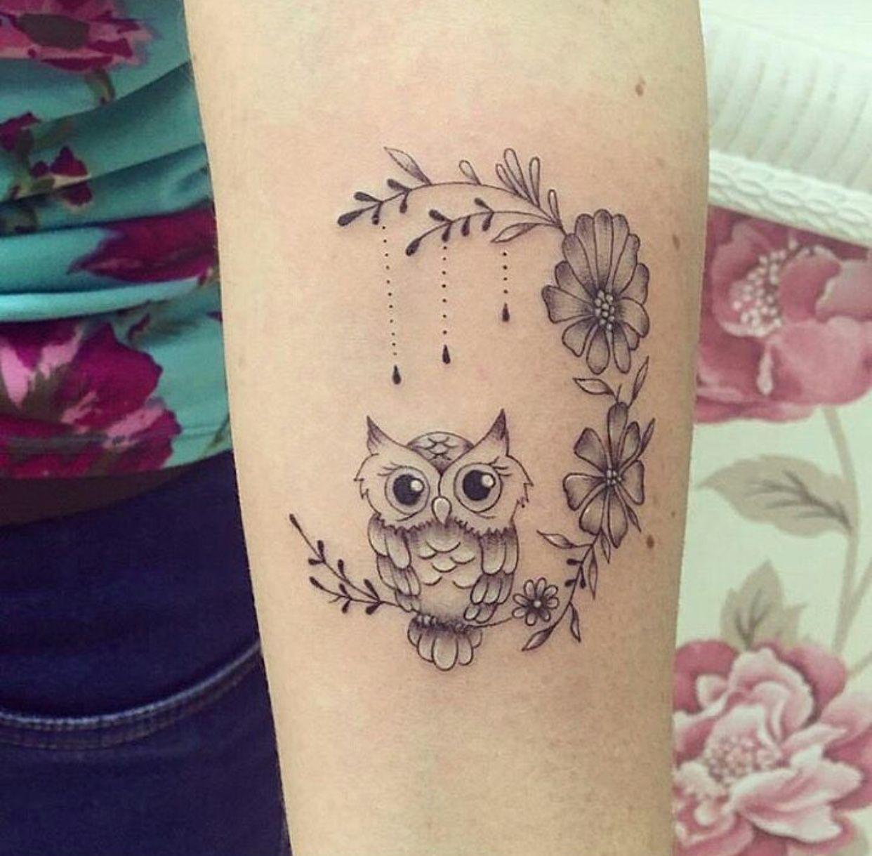 I D Like This On My Shoulder Blade Cute Owl Tattoo Baby Owl Tattoos Cute Animal Tattoos