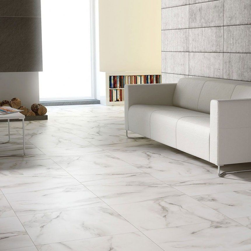 Marble Floor Design Pictures Cost Per Sq Ft Brouille White Effect 60x60 Polished Tiles Ideas Phot Living Room Tiles Marble Living Room Floor White Marble Floor
