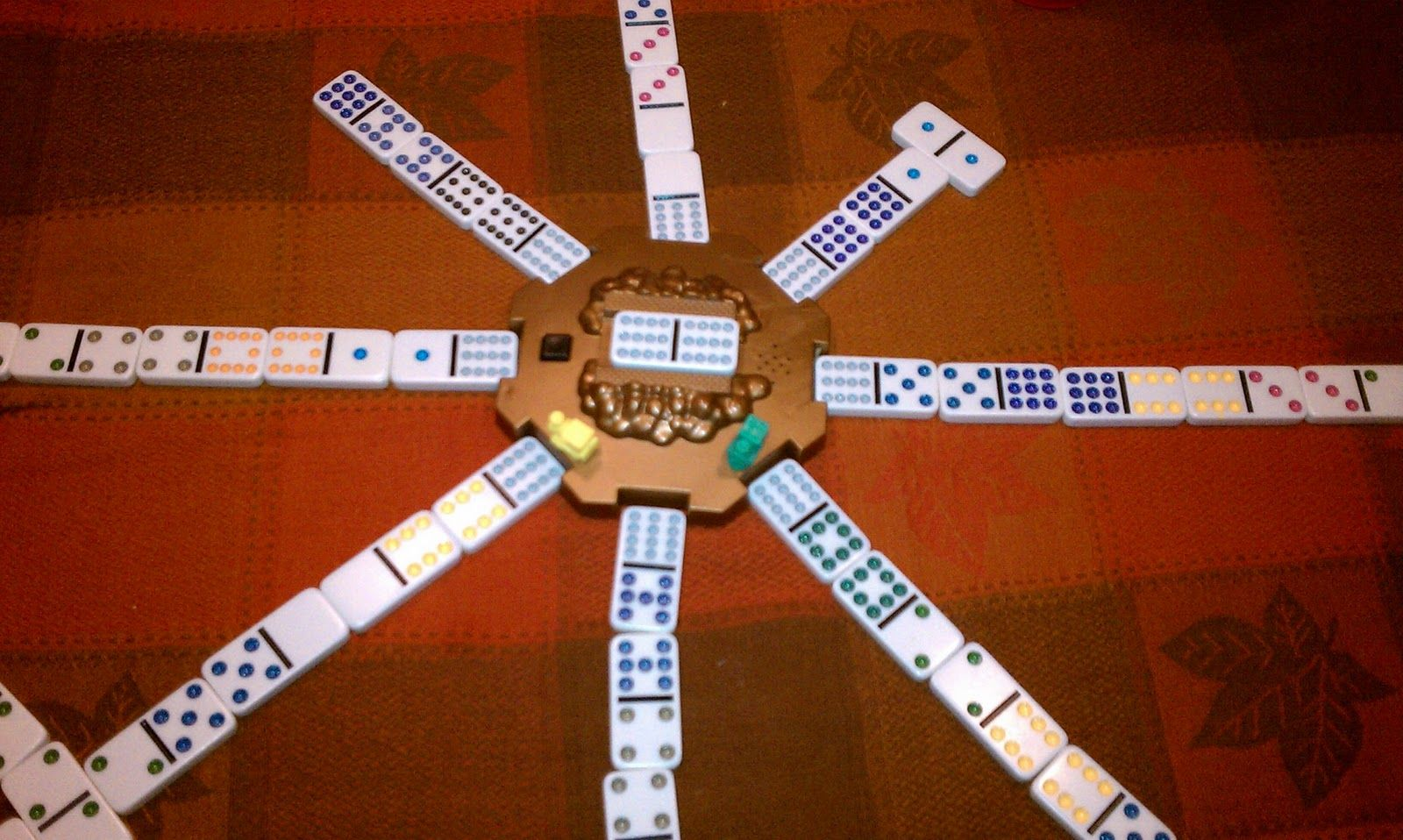 Mexican train dominoes a great game for camping
