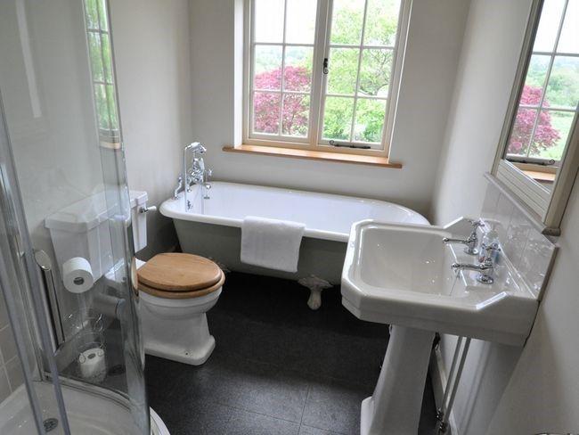 Family Bathroom With Roll Top Bath And Separate Shower Small Bathroom With Bath Small Bathroom Layout British Bathroom