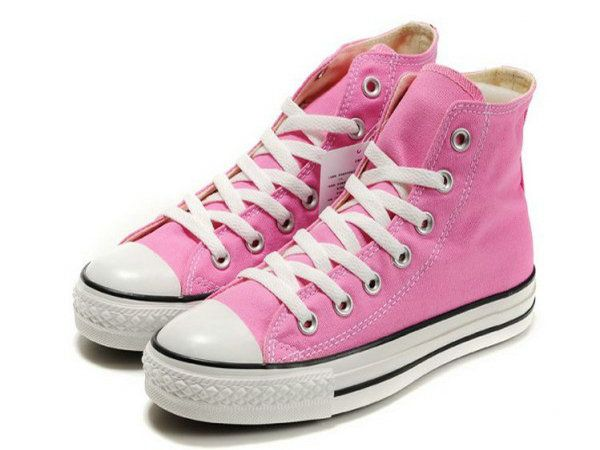 106dab3ff20f Classic Pink Converse Chuck Taylor High Top Canvas Shoes