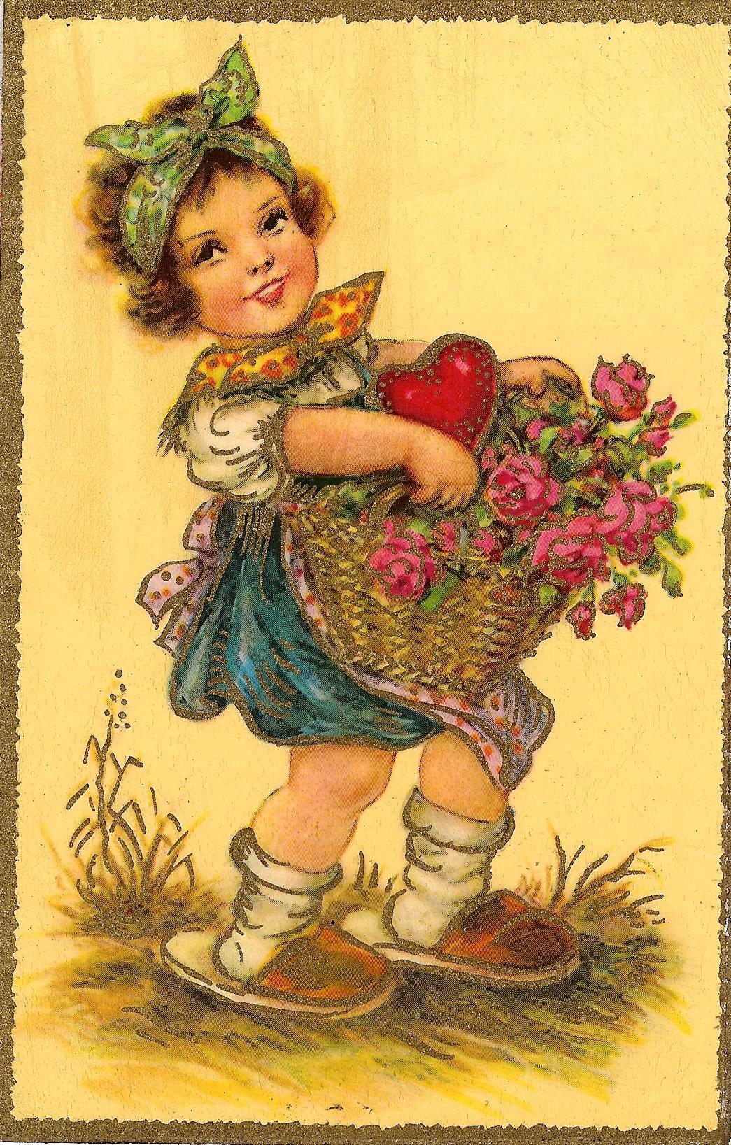 С 8 марта немецкие открытки, фото открытки