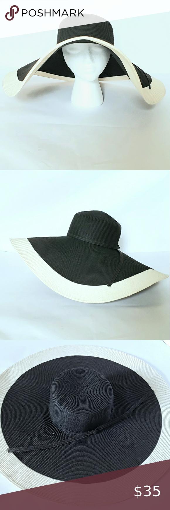 Wide Brim Floppy Sun Hat Two Toned In 2020 Floppy Sun Hats Sun Hats Women Accessories Hats