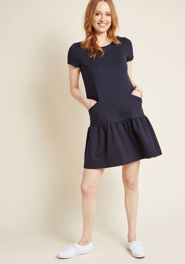 d829afe564ac Accordingly Casual T-Shirt Dress in Navy