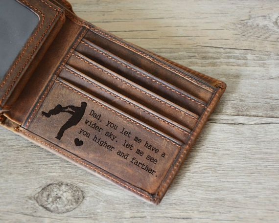 Dad Wallet Gift for him Custom wallet for Dad, For Dad Custom Message Leather Wallet Personalized Wallet For Men Fathers day gift