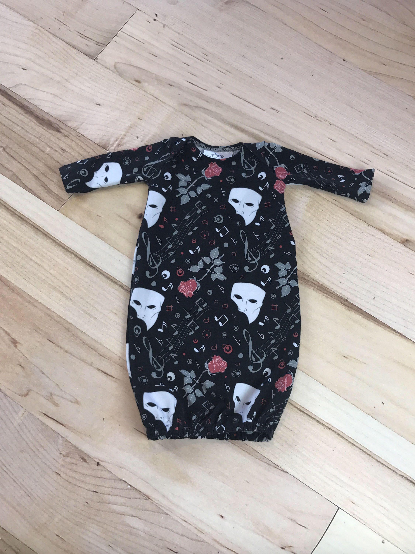 Baby gown, sleep gown, baby sleeper, newborn gown, newborn, baby ...