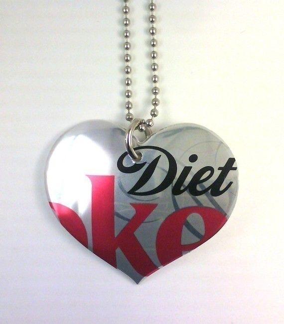 Diet Coke necklace... fun gift for diet coke lovers