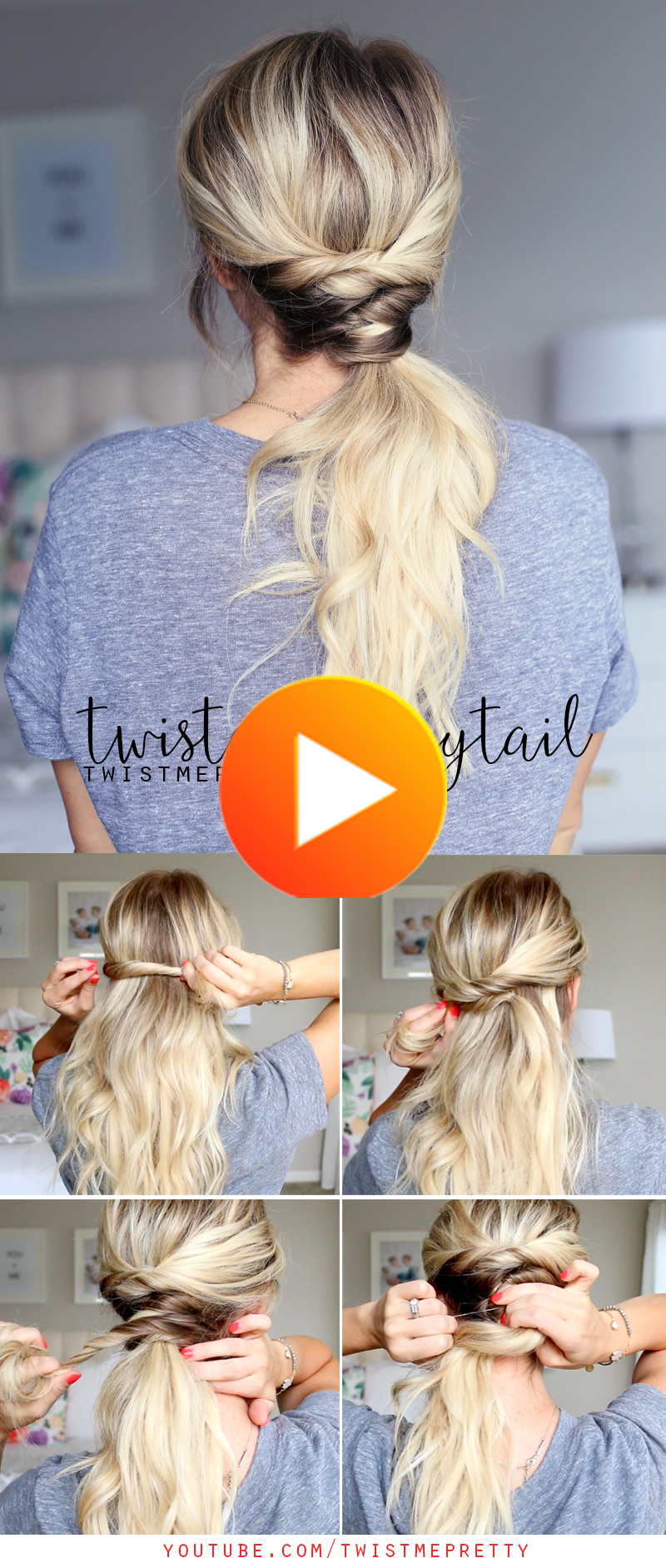 Twisted Ponytail In 2020 Twist Ponytail Pretty Ponytails Low Ponytail Hairstyles