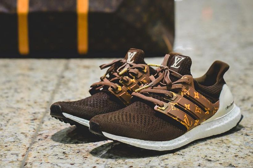 919248f21cb The adidas UltraBOOST Gets Branded in Louis Vuitton by Dent Kicks Custom