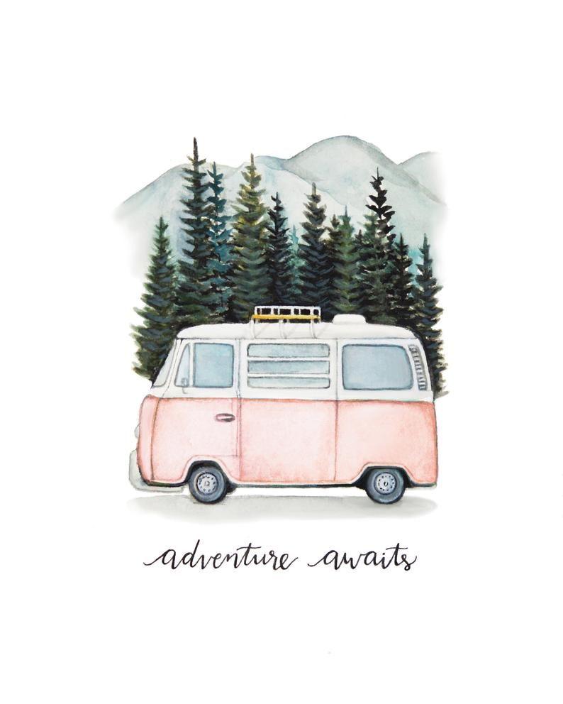 VW Bus Abenteuer erwartet Road Trip in den Bergen | Etsy