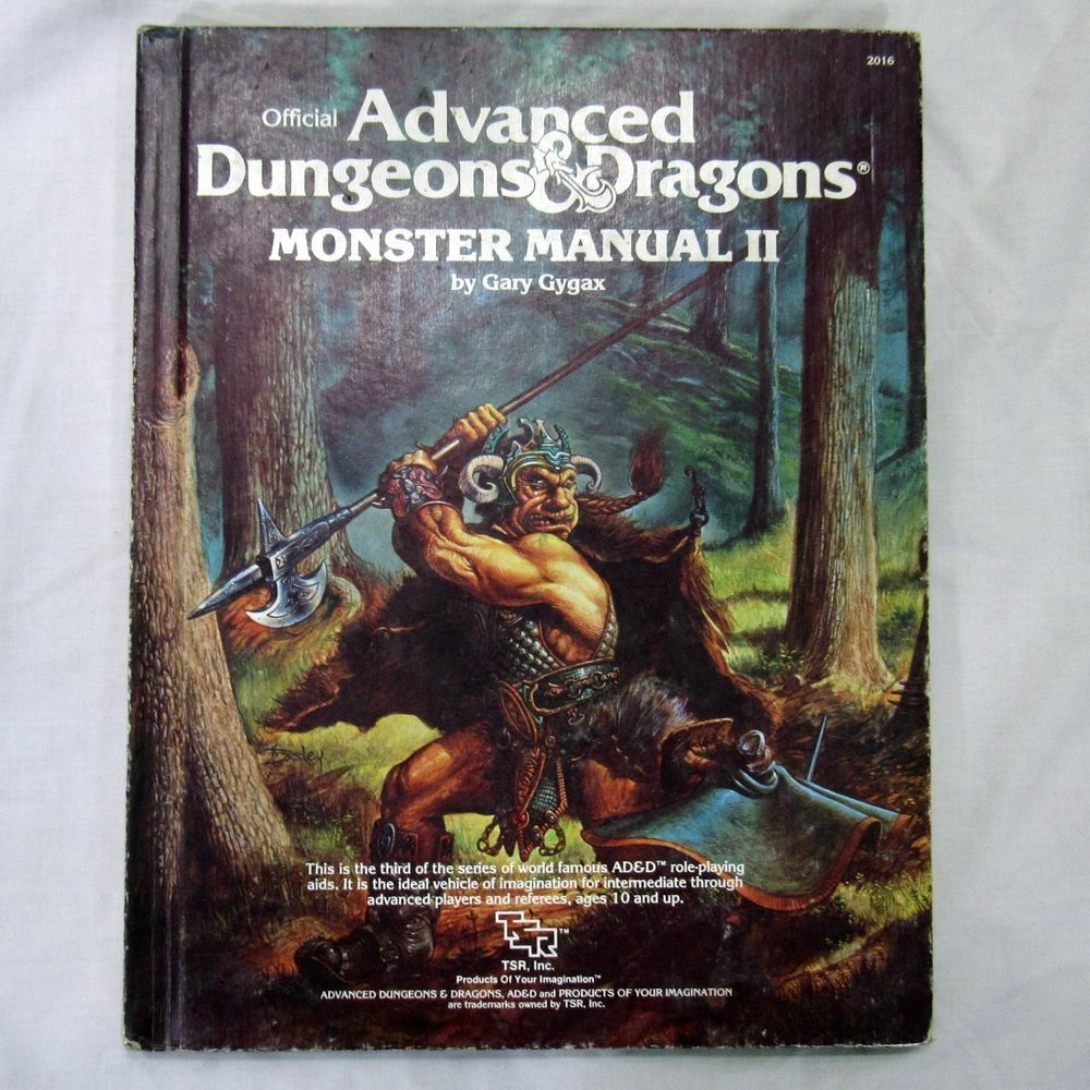 Tsr Advanced Dungeons And Dragons Monster Manual 2 Hardcover 1983 Advanced Dungeons And Dragons Dungeons And Dragons Dungeons And Dragons Art