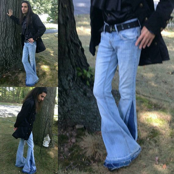 Men S Bell Bottoms Jeans Custom Made By Bellbottombleus On Etsy Just For You No 2