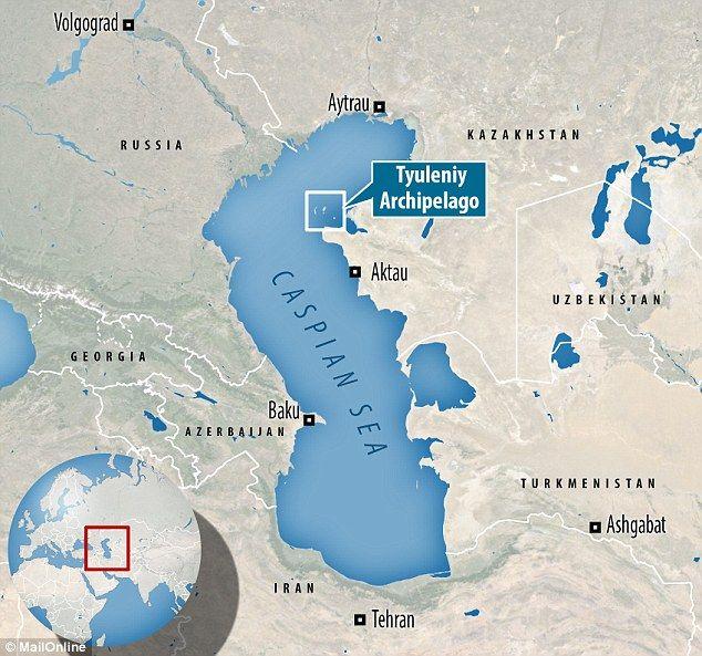 What Is Scarring The Bottom Of The Caspian Sea Archipelago - Caspian sea world map