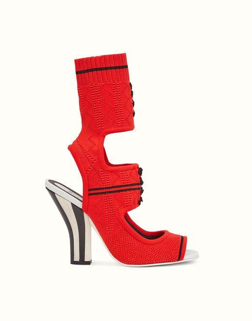 open toe sandals - Red Fendi wW5VO