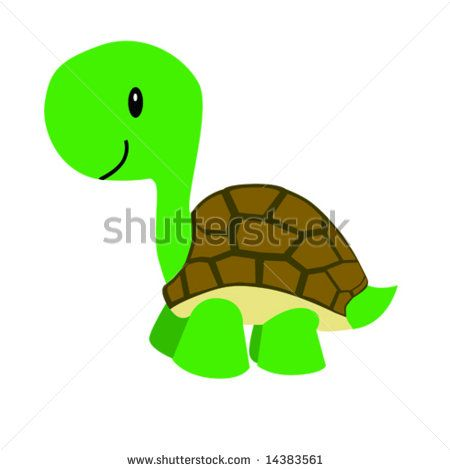 Turtle Shell Clip Art Vector Illustration Of A Happy Cartoon