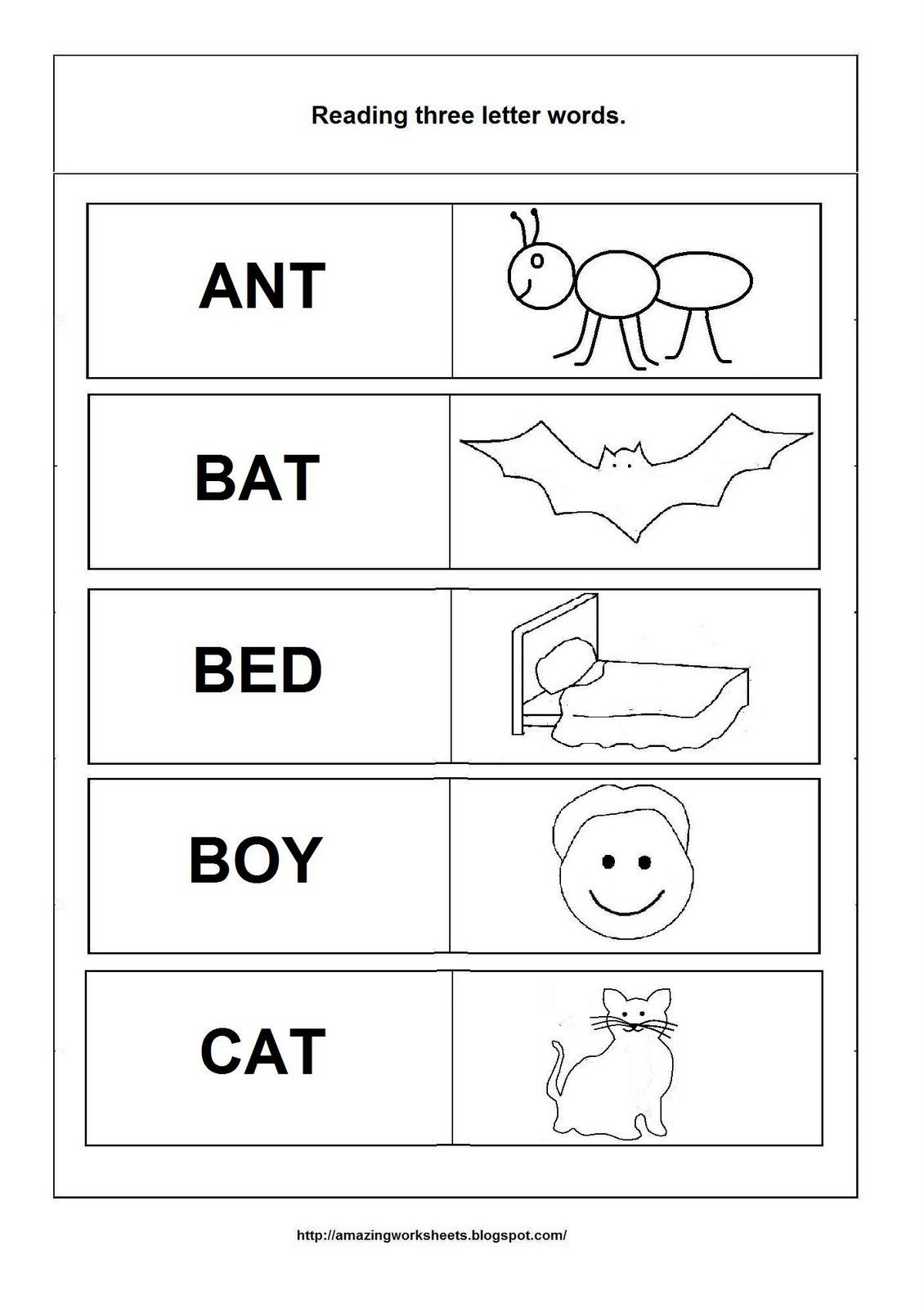 Rhyming Words Worksheet For Kinder