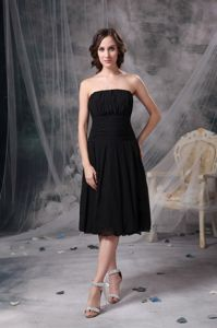 Plus Size Tea Length Strapless Little Black Mother Bride Dresses Available In Many Colors And