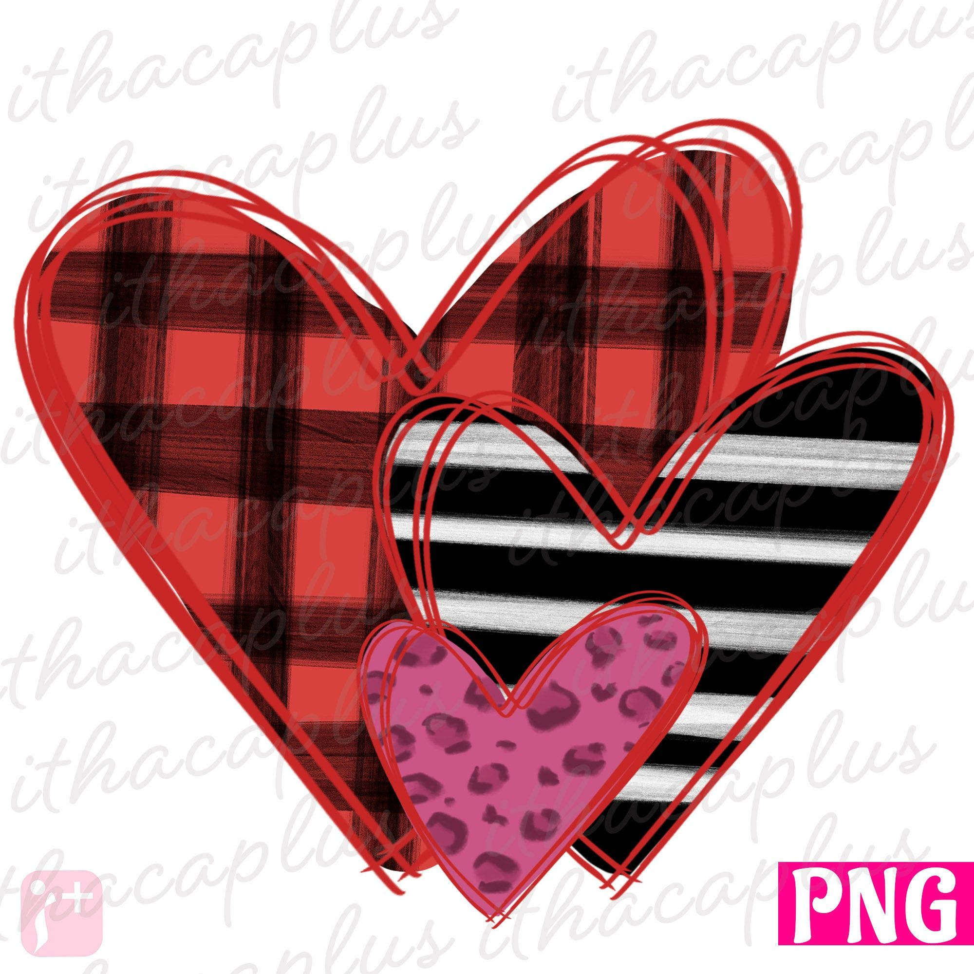 Valentines Day Digital File Valentine Love PNG Sublimation Watercolor Heart Rainbow Heart PNG
