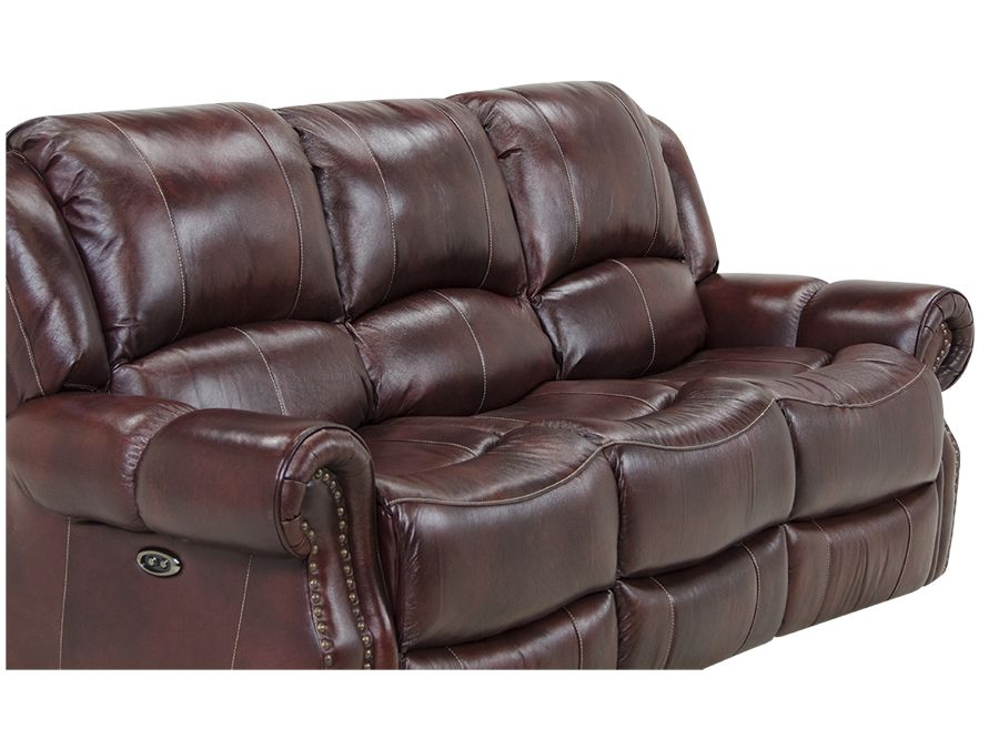 Check Out The Deal On Newberg Softie Oxblood Leather Power Recliner Sofa At  Rothman Furniture