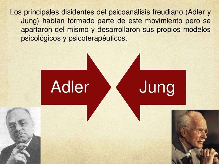 ... Los principales disidentes del psicoanálisis freudiano: Adler y Jung. http://ariamgonzaleztallerdeliderazgo.blogspot.com.es/2015/05/tipologia-de-jung-y-adler.html