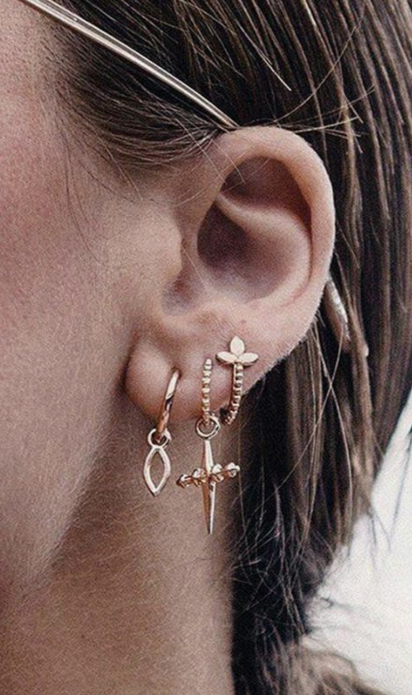 d070dfe21 luv aj the cross hoops vintage dangle earrings | layered hoop ear piercing  ideas | 3 hole ear piercing ideas | gothic jewelry | #earrings #jewelry  #gothic ...