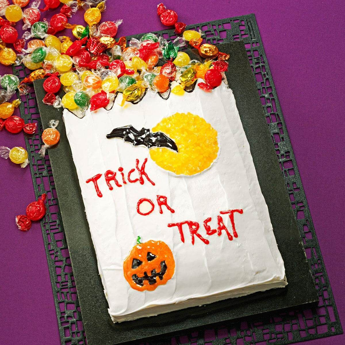 Trickortreat cake recipe halloween cake recipes
