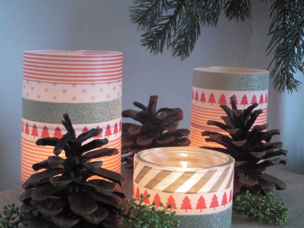 des photophores de no l faire soi m me candle glass diy pillar candles e candles. Black Bedroom Furniture Sets. Home Design Ideas