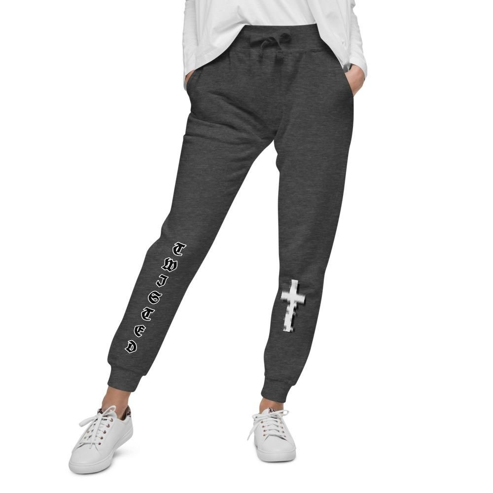 TCD Twisted Faith Unisex fleece sweatpants - Charcoal Heather / M
