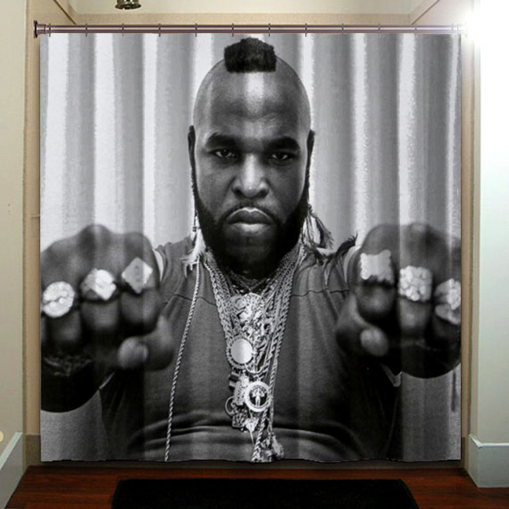 Mister T Retro Vintage 80 S Shower Curtain Bathroom Price Free