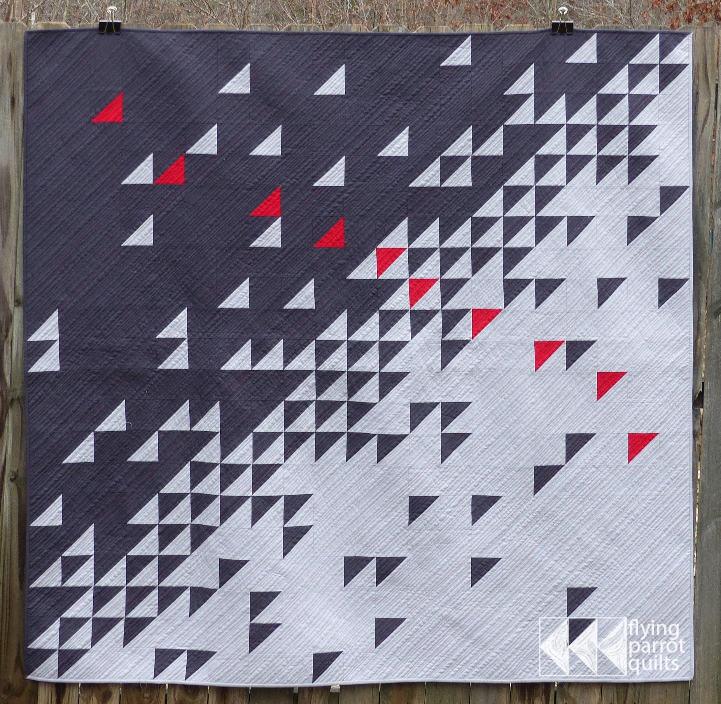Small accent of one color, triangles and well... overall ... : one color quilts - Adamdwight.com