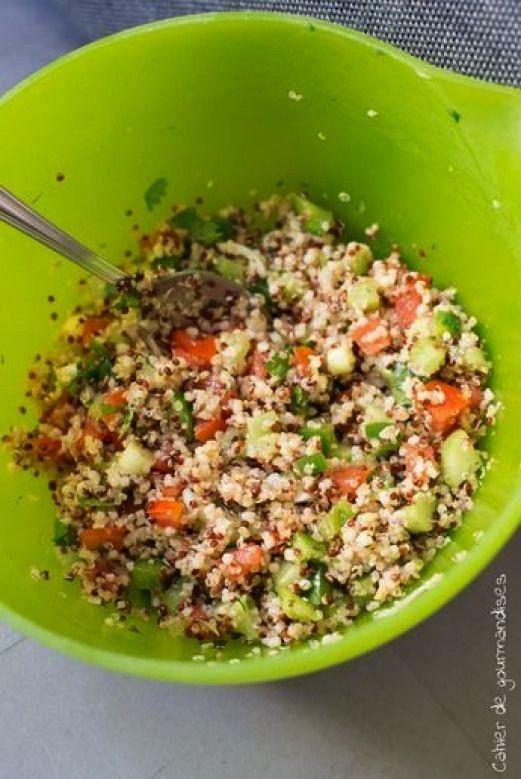de quinoa facon taboule PlusSalade de quinoa facon taboule Plus Una version vegetariana y delic
