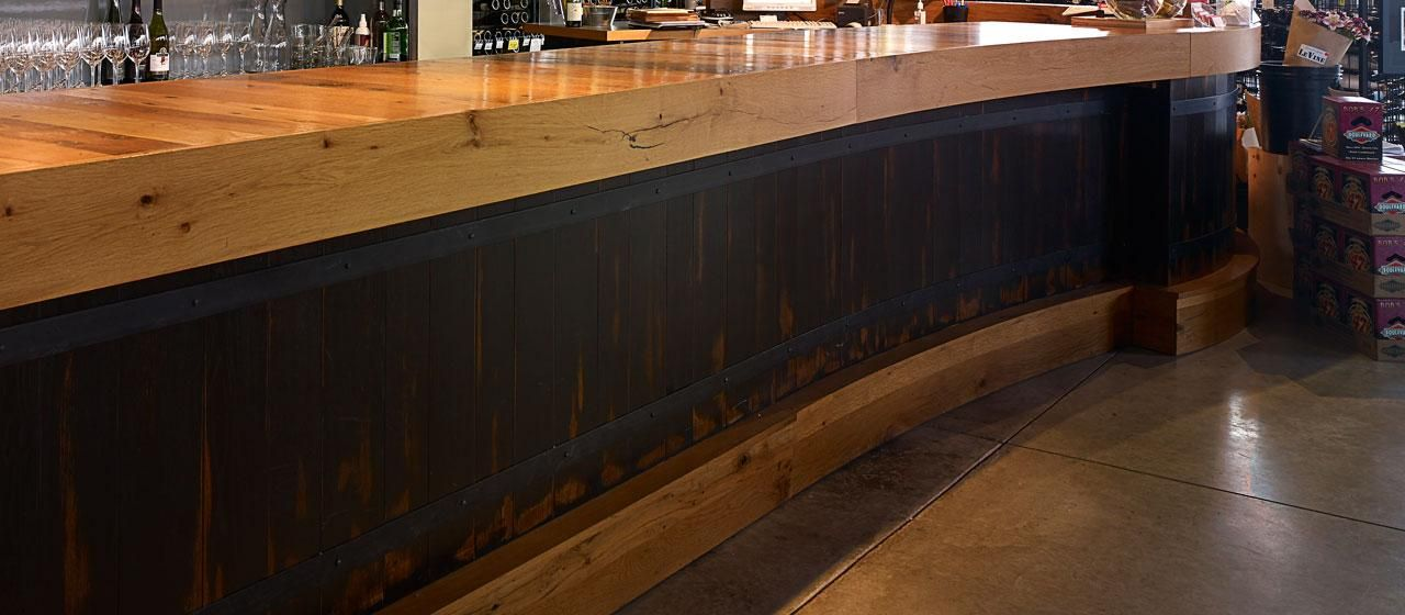 Antique Reclaimed Wood Bar Top - Oak | Palisades Public House ...
